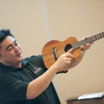 Brian Benevente of KoAloha Ukulele leads a beginner's class. Photo by M Palma.