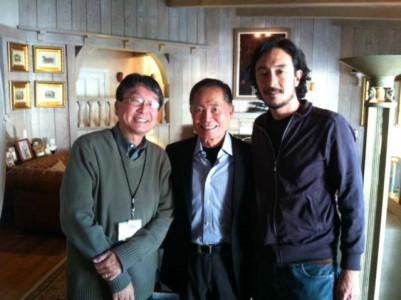 Chris Komai, George Takei, and Akira Boch