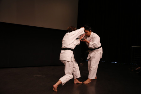"A live demonstration of ""Ju-no-kata"", a signature form of Fukuda-Sensei, precedes the film screening."