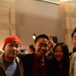The Fung Brothers enjoy the after party with friends.