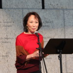 Nisei Author (and former JANM President) Dr. Akemi Kikumura Yano speaks about her Issei parents. Photo by Richard Murakami.