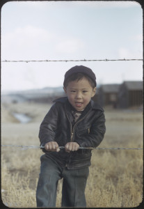 One of the 18 rare Kodachrome photographs taken by Bill Manbo during his incarceration at the Heart Mountain concentration camp. ©2012 Takeo Bill Manbo