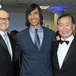 Artist Kip Fulbeck with George & Brad Takei