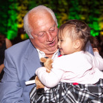 "A happy fan takes a picture with Dodger legendary manager Tommy Lasorda. We were excited to have Tommy and Mark Langill (curator for the ""Dodgers: Brotherhood of the Game"" exhibition on view through September 14) join us at the Gala"