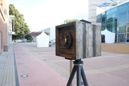 Toyo Miyatake's Camera, a public artwork by Nobuho Nagasawa. Photo: Esther Shin.