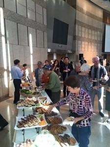 JANM members enjoy a dessert buffet at the Members Only reception for Making Waves and Two Views. Photo by JANM.