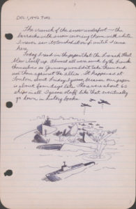 A page from Stanley Hayami's diary, dated December 1, 1942. Japanese American National Museum. Gift of the estate of Frank Naoichi and Asano Hayami, parents of Stanley Kunio Hayami.